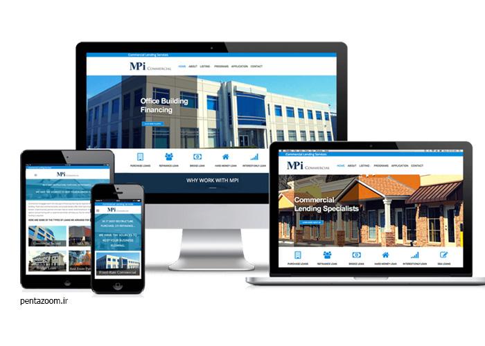 طراحی سایت مجتمع تجاری
