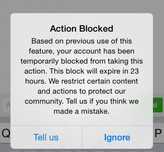 محدودیت های اینستاگرام