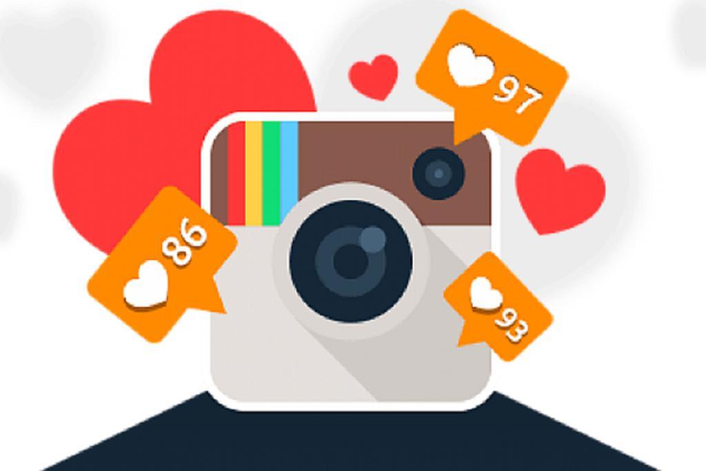 لوگوی اینستاگرام همراه با نماد لایک