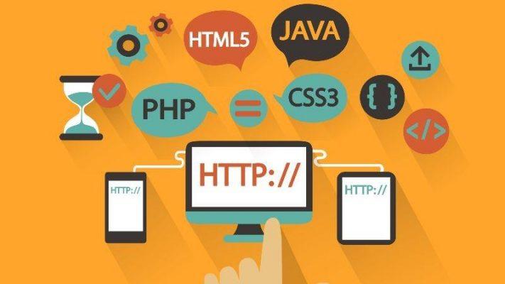 عکسی که انواع زبان های تحت وب داخلش درج شده است
